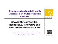 Responsive, Innovative and Effective Mental Health Care