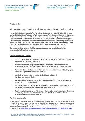 Lebenslauf Jan Schneider - Sachverständigenrat deutscher ...