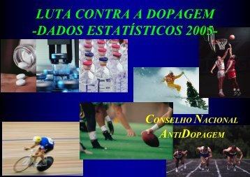 CNAD-Dados estatisticos Doping 2005