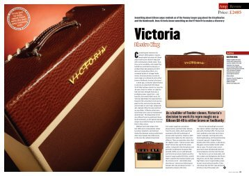 Electro King Guitar and Bass June 2009 - Victoria Amplifier