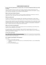CAREER MENTOR SCHEME 2012 - QUT Careers and Employment