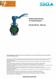 SYLAX DN 25 - 350 mm - SOCLA