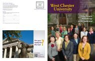 New Faces in Philanthropy & Leadership - West Chester University