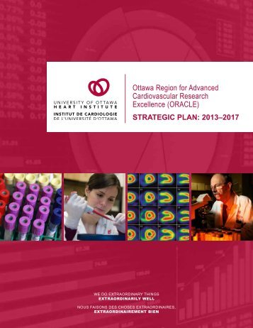 Read our research strategic plan - University of Ottawa Heart Institute