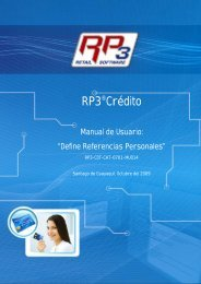 Referencias Personales - RP3 Retail Software