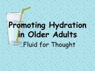 Promoting Hydration in Older Adults - Long-Term Care Best ...