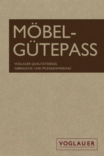 Möbel-Qualitäszertifikat mit Gebrauchs- und ... - Voglauer