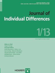 Journal of Individual Differences