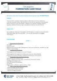 Création d'un site _Wordpress - (CCI) de l'Yonne