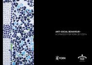 ANTI-SOCIAL BEHAVIOUR - A STRATEGY FOR YORK ... - YorOK