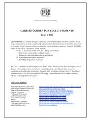 careers corner for year 11 students - PEGSnet