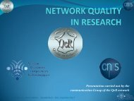 Why a network? - CNRS