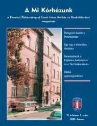 A Mi Kórházunk: 2002. február ( IV/1) - Szent János Kórház