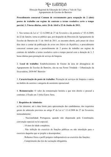Direcção Regional de Educação de Lisboa e Vale do Tejo