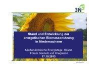 Stand und Entwicklung der energetischen Biomassenutzung in ...
