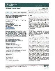 ICC-ES Evaluation Report / ESR-2785 - Polycoat Products