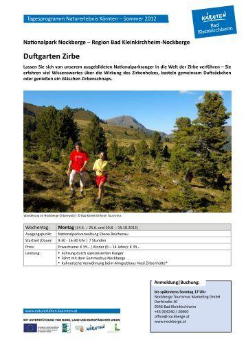 Duftgarten Zirbe - Geopark Karnische Alpen