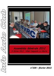 Assemblée Générale 2012 - FVRC