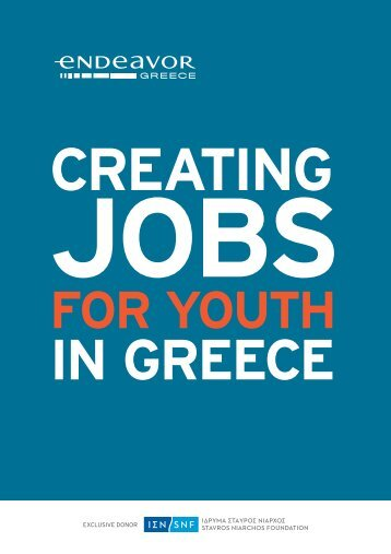 Endeavor Greece - Creating jobs for youth in Greece