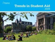Trends in Student Aid 2009 - College Board Advocacy & Policy Center