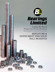 MINIATURE & INSTRUMENT PRECISION BALL ... - BL Bearings