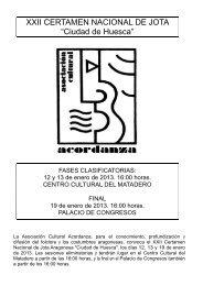 Bases Certamen Nacional de Jota CIUDAD DE HUESCA - 2013