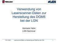 Verwendung von Laserscanner-Daten zur Herstellung des DGM5 ...