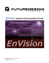 EnVision Network Communications Guide - Future Design Controls