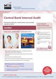 Central Bank Internal Audit - MIS Training
