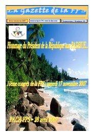 La Gazette de la FPS / 2ème trimestre 2007 / N° 39 Page 1