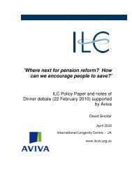 How can we encourage people to save? - International Longevity ...