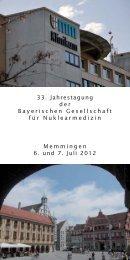 Programm - Bayerische Gesellschaft für Nuklearmedizin eV