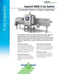 X-ray Inspection - METTLER TOLEDO