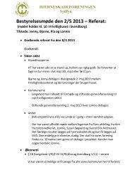 Bestyrelsesmøde den 2/5 2013 – Referat: - Hjerneskadeforeningen