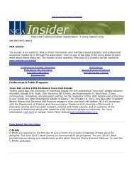 July 2012, Vol. 3, Issue 3 - National Communication Association
