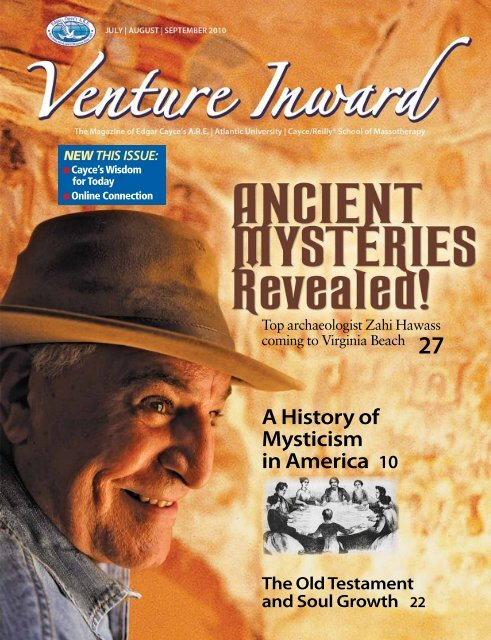 new this issue - Edgar Cayce