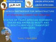 STATUS OF TRANS-AFRICAN HIGHWAYS - Africa-EU Partnership