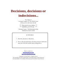 Decisions, decisions or indecisions... - The DNA of Success