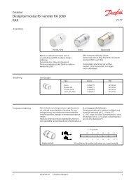 Danfoss RAX design.pdf - Lenhovda Radiatorfabrik AB