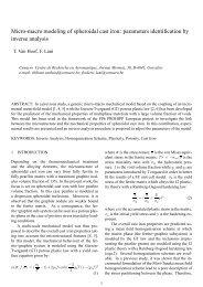 Micro-macro modeling of spheroidal cast iron - the ESAFORM 2008 ...