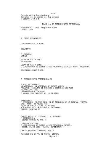 Tevez - Bloc de notas - Ministerio de Justicia y Derechos Humanos