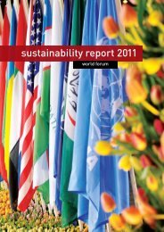 sustainability report 2011 - World Forum