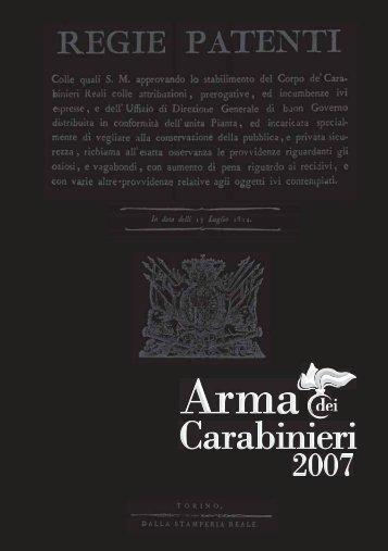 Scarica la brochure - Carabinieri
