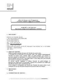 Cahier des charges Appel d'offres Catalogue Musée - Institut du ...