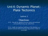 Unit 6: Dynamic Planet: Plate Tectonics - Ann Arbor Earth Science