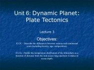 Unit 6: Dynamic Planet: Plate Tectonics - Ann Arbor Earth Science