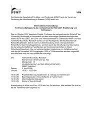 Die Deutsche Gesellschaft für Moor- und Torfkunde (DGMT) und der ...