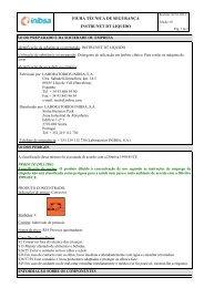 ficha técnica de segurança instrunet dt liquido - VectWeb SM