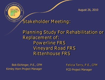 Stakeholder Meeting - Flood Control District of Maricopa County