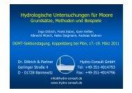 Dittrich et al-2011-DGMT Plön Slides - Deutsche Gesellschaft für Moor